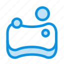 cleaning, hygienic, sponge icon