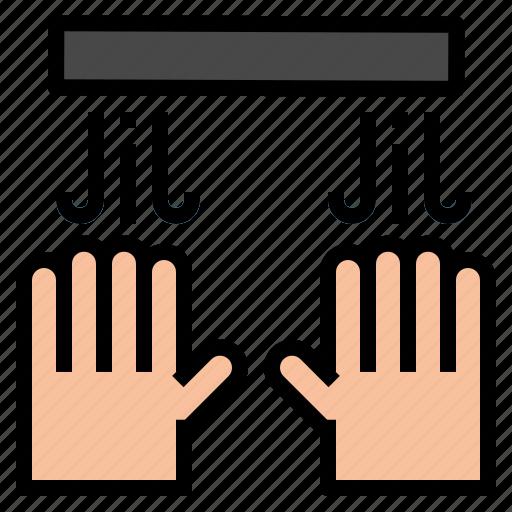 dryer, hand icon
