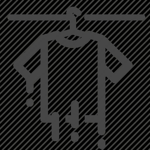 cloth, clothes, hang, shirt, wash, washing, wet icon