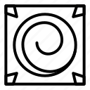 eye, frame, hypnosis, hypnotic, spiral, square, texture icon
