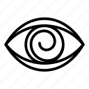 business, eye, fashion, hypnosis, logo, medical, silhouette icon