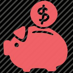 cash, coin, collect, discount, money, save, savings icon