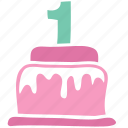 anniversary, birthday, cake, celebrate, celebration, dessert, newborn icon