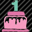 cake, dessert, anniversary, celebrate, newborn, birthday, celebration icon