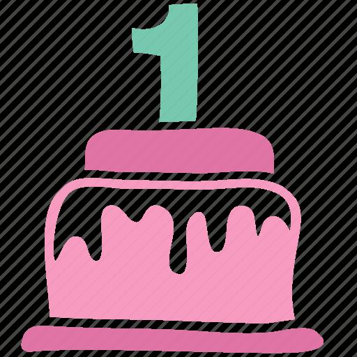 anniversary, birthday, cake, celebrate, celebration, dessert, newborn icon