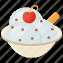 frozen cream, vanilla cherry sundae, vanilla dessert, vanilla ice cream, vanilla strawberry ice cream icon