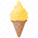 cone, ice cream cone, mango cone, mango dessert, mango ice cream icon