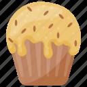 chocolate chip cupcake, chocolate chip ice cream, cup ice cream, cupcake ice cream, ice cream icon