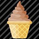 choco-dessert, chocolate ice cream, chocolate sundae, gelato, sundae icon