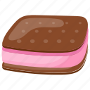 brownie, frozen dessert, ice cream sandwich, smoothie, strawberry ice cream icon