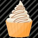 dessert, gelato, ice cream cup, vanilla cone, vanilla ice cream icon