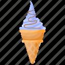 blue raspberry ice cream, blueberry ice cream, ice cream cone, raspberry ice cream, waffle icon