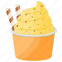 ice cream, ice cream cup, mango delight ice cream, mango dessert, mango ice cream icon