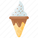 chocolate chip, chocolate chip ice cream, chocolate sprinkles cone, ice cream, ice cream cone icon