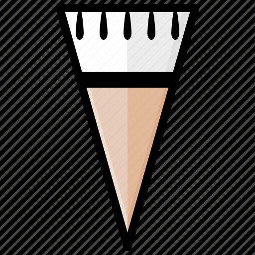 chocolate, cone, cornetto, ice cream, ice cream cone, sweet, vanilla icon