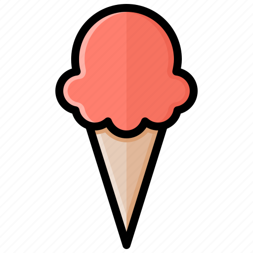 cone, cream, dessert, ice, ice cream, one scoop, sweet icon