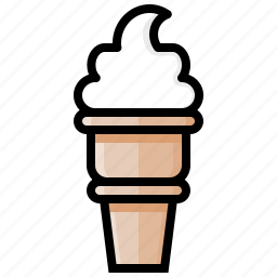 cone, cream, ice, ice cream, sweet, swirl, vanilla icon