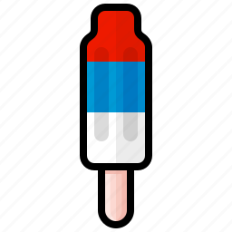 dessert, ice cream, pop, popsicle, red white and blue, rocket, sweet icon
