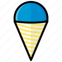 cone, food, ice, snow, snow cone, sweet