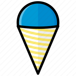cone, food, ice, snow, snow cone, sweet icon