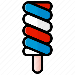ice cream, pop, popsicle, rainbow pop, red white and blue, sweet, swirly icon