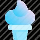 cone, cream, ice, scoop, summer