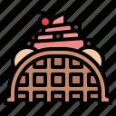 dessert, ice cream, summer, waffle icon