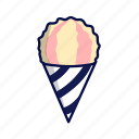 ice cream, ice lolly, popsicle, snow cone icon