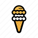 cone, cream, frost, ice, roll, scoop icon