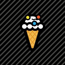 cone, cream, frost, ice, roll, scoop icon