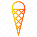 cone, cream, dessert, ice, summer, sweet icon