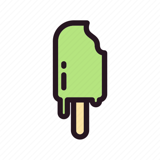 color, cream, filled, ice, mixed, stick icon