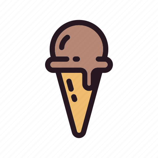 color, cone, cream, filled, ice, skup icon