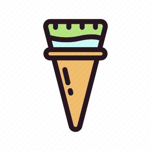 color, cone, cream, filled, ice, mixed, skup icon