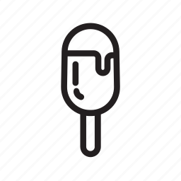 cone, cool, cream, ice, line, stick icon