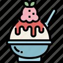 bingsu, dessert, food, ice cream, summer, sweet icon