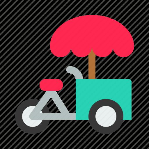 ice cream bike, transport, tricycle, vehicle icon