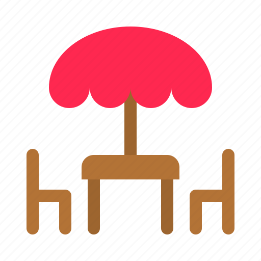 chair, furniture, restaurant, table icon