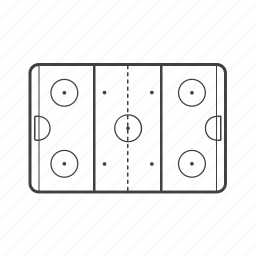 field, freeze, game, goal, hash marks, hockey, rink icon