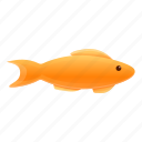 gold, water, fish, small icon
