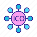 concept, contour, ico, investment
