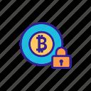 bitcoin, contour, ico, internet, linear, protect icon