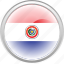 federation, flag, flag paraguay, nation, paraguay icon