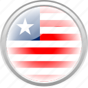city, flag, flag liberia, liberia, nation icon