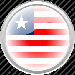 city, flag, flag liberia, liberia, nation icon