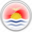 country, flag, flag kiribati, fly, kiribati, sea, sun icon