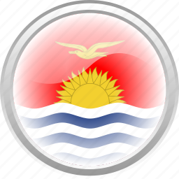 country, flag, flag kiribati, fly, kiribati, sea, sun icon