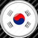 city, country, flag, flag sounth korean, south korean