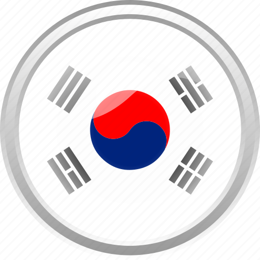 city, country, flag, flag sounth korean, south korean icon