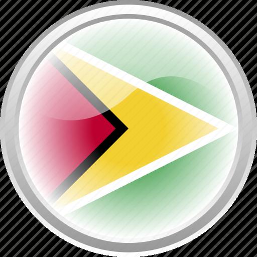 city, country, flag, flag guyana, guyana icon